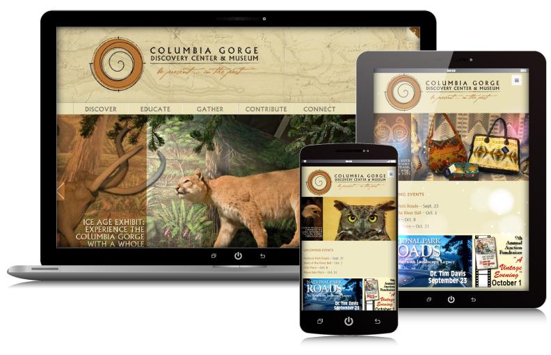 columbia-gorge-museum-responsive-webrock-design